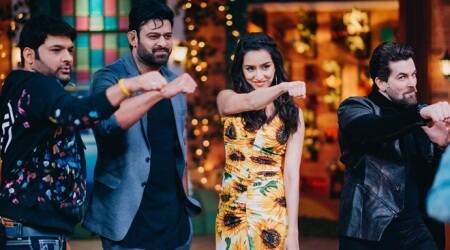 Saaho Prabhas, Shraddha Kapoor, Neil Nitin Mukesh The Kapil Sharma Show photos