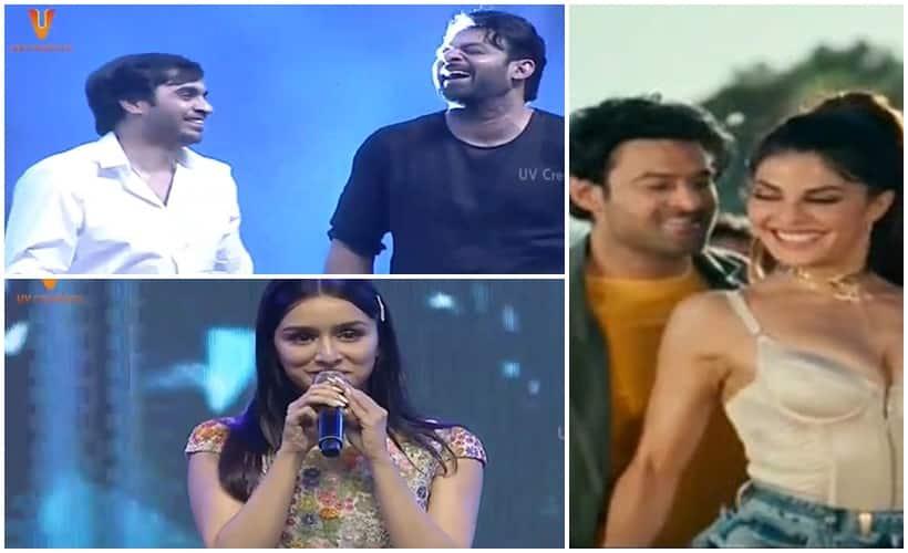 Saaho Pre Release Event Prabhas Shraddha Kapoor song Bad Boy