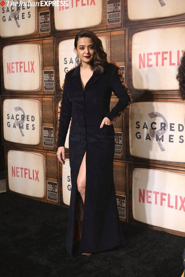 Surveen Chawla at Sacred Games 2 premiere in Mumbai
