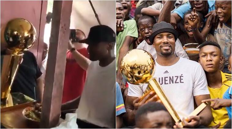 Rags to riches: NBA Champion Serge Ibaka returns to restaurant where he used to beg for leftovers