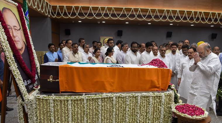 Former Union minister Arun Jaitley cremated with full State honours