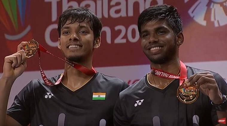 indian pair wins thailand open, indian badminton pair wins thailand open, badminton thailand open, badminton thailand open 2019, thailand open badminton, sports news, badminton pair of Chirag Shetty satwiksairaj rankireddy, Chirag Shetty, satwiksairaj rankireddy