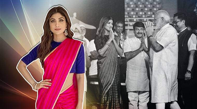 Fit india moment, PM Modi, Shilpa Shetty sari looks, Shilpa shetty fitness, indian express news