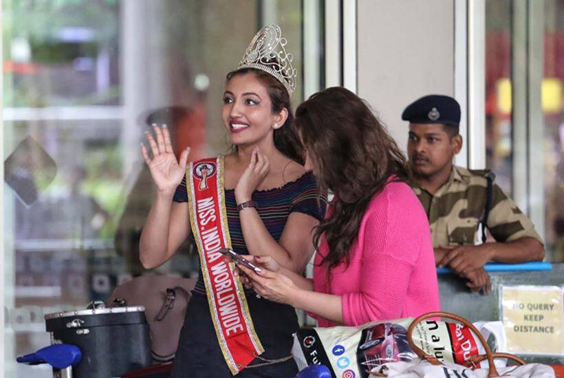 Miss India Worldwide 2018 Shree Saini on her maiden visit to