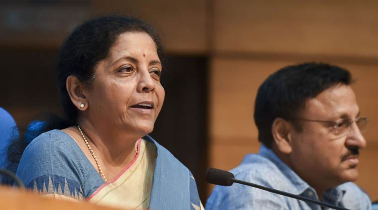 indian economy, indian economy growth, nirmala sitharaman, finance minister nirmala sitharaman, nirmala sitharaman press conference, niti aayog, rajiv kumar niti aayog, rajiv kumar on indian economy, economy slowdown, Indian Express