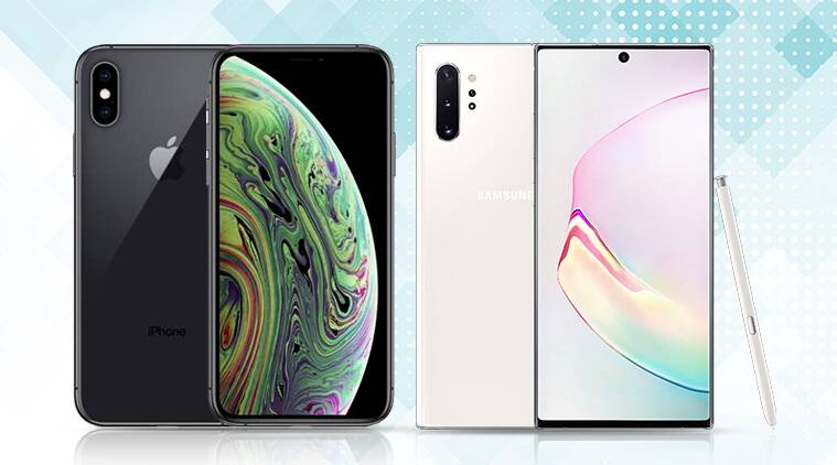 galaxy note10, samsung galaxy note10, iphone xs, apple iphone xs, iphone xs vs galaxy note10, galaxy note 10, galaxy note10 vs iphone xs, iphone xs vs galaxy note10 specs price