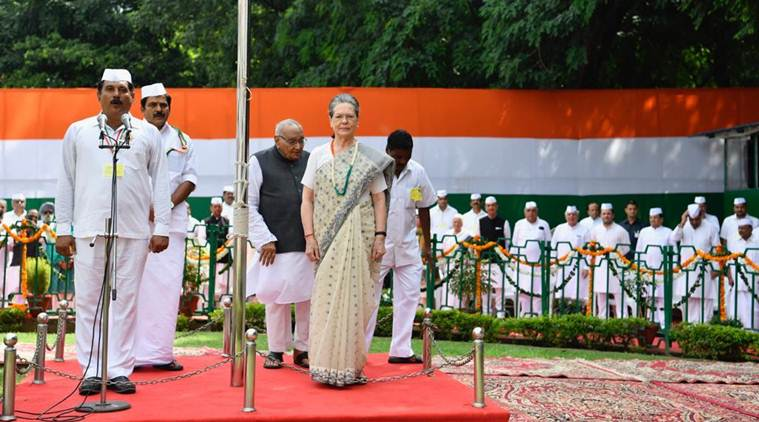 Independence Day 2019: Congress interim president Sonia Gandhi hoists Tricolour at party headquarters