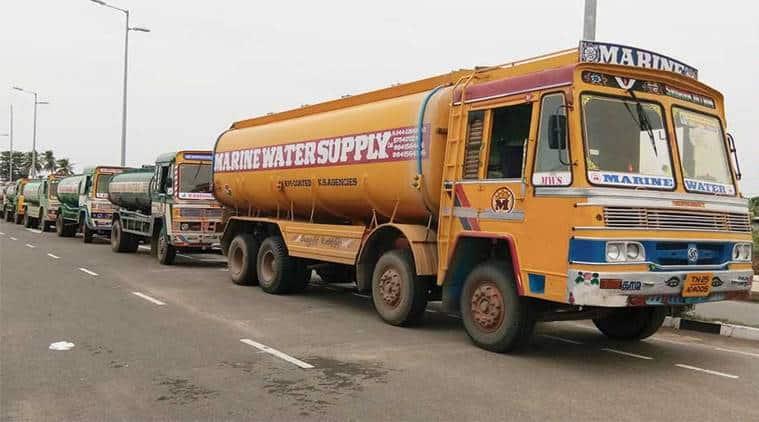 Chennai water tankers, strike