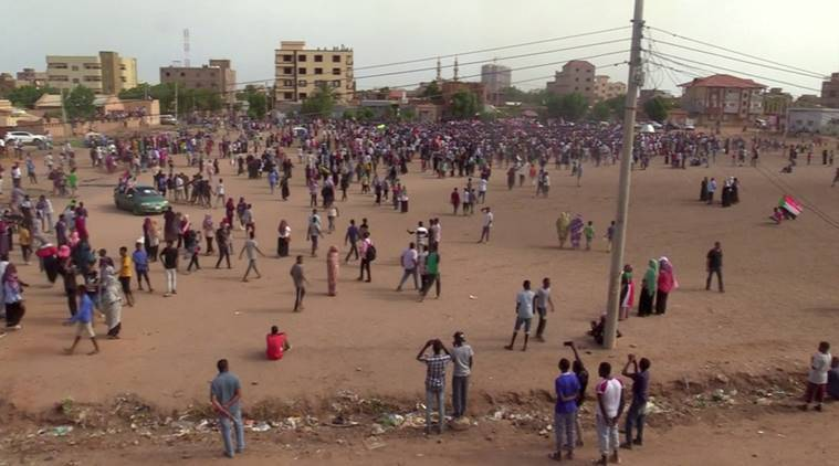 sudan protests, sudan protest march, protest against security forces, protest against killing, sudan killings, protestors shot dead in sudan, indian express