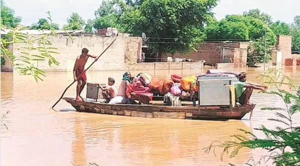 Punjab floods, Sutlej flooded