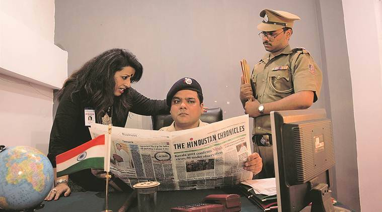 A scene from the play 36, Defence Colony