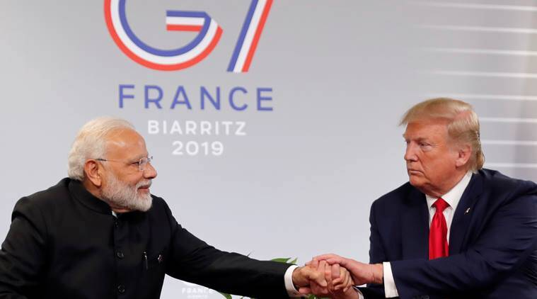 Indian PM Modi meets US President Donald Trump at G7