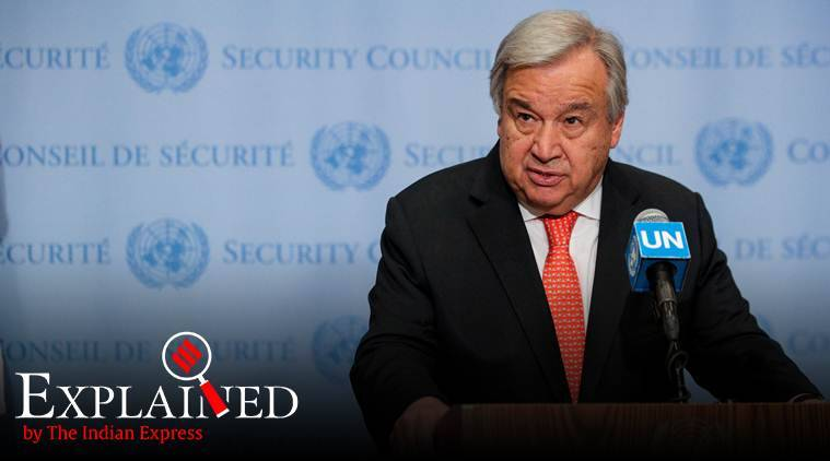 Explained: former Indian diplomat vivek katju explains UN chief Antonio Guterres statement on J&K