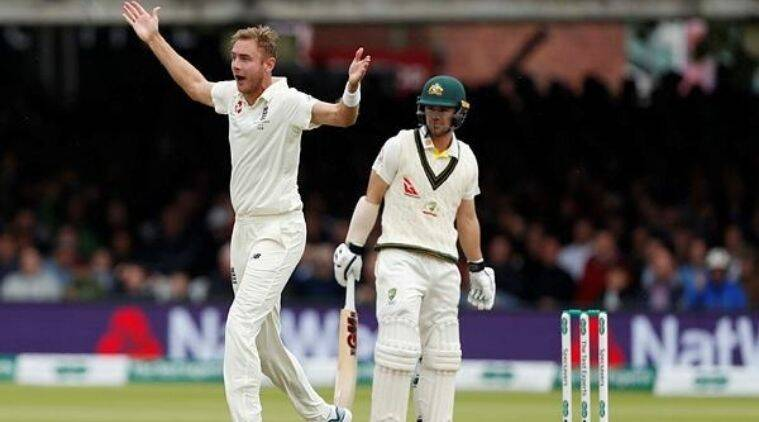 Stuart Broad in Ashes