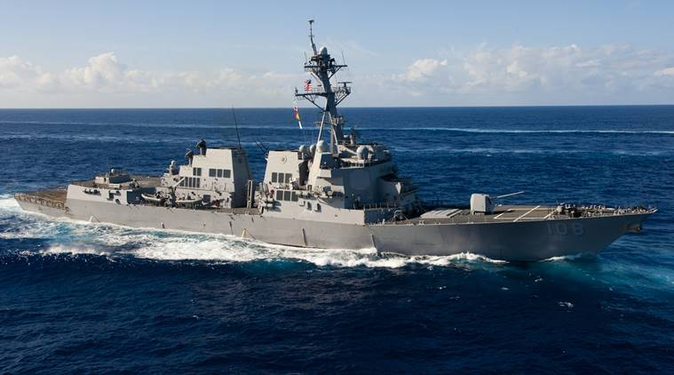 US navy warship sails china, Wayne E Meyer, US-China relations, US,China trade war, US-China tensions