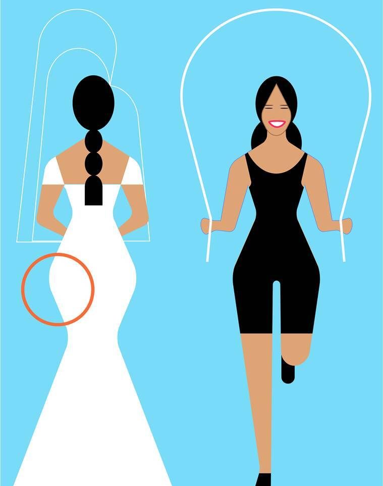 workout for brides, wedding dress silhouette, workout according to wedding gown