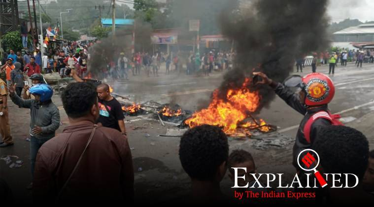 Explained: Why West Papuan students are holding violent protests against Indonesian govt