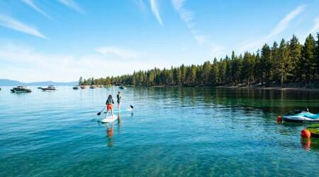 Lake Tahoe, Nevada and California, USA lakes, indian express, indian express news