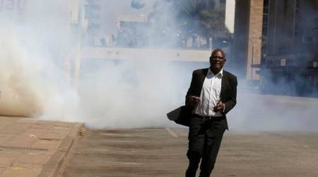 zimbabwe, zimbabwe protests, protests in zimbabwe, anti government demonstrations, anti govt demonstrations zimbabwe, movement for democratic change, emmerson mnangagwa, inflation, economic crisis, zimbabwe economy, united states, world news, indian express news
