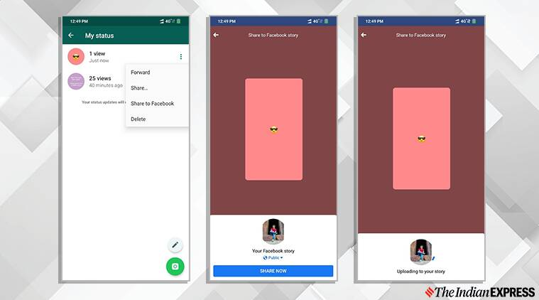 You Can Now Share Whatsapp Status Updates As Facebook