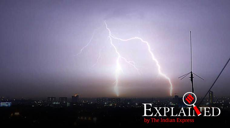 lightening deaths, lightening deaths in india, what is lightening, why lightening kills, north india rains, IMD weather prediction, Indian express
