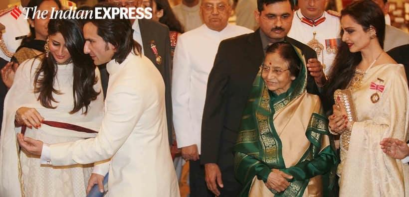 Saif Ali Khan Padma Shri Kareena Kapoor