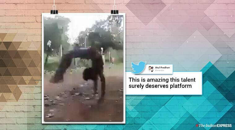 Video of a youth doing mutiple backflips goes viral, people tag Sports Minister