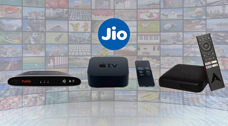 Airtel Xstream 4K Hybrid Box vs Jio 4K Set Top Box vs Apple TV 4K vs ACT Stream TV 4K: What's the difference? - The Indian Express thumbnail