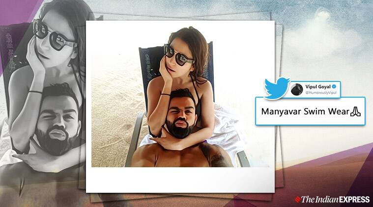 virat anushka holiday photo, virat anushka beach selfie, virushka memes, virat anushka beach photo memes, indian express, entertainment news,
