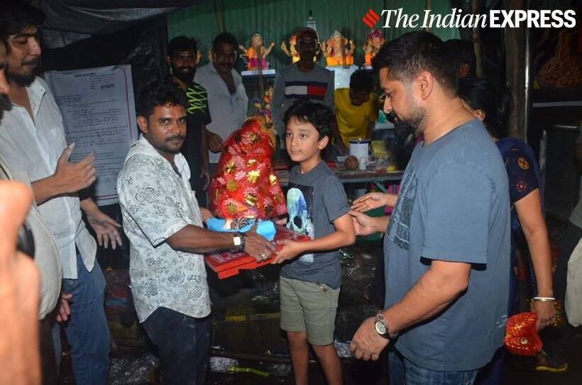Sanjay Dutt son Ganapati celebrations