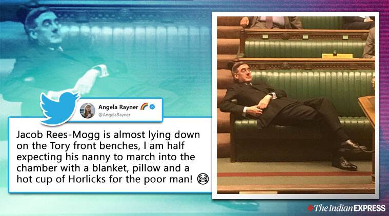 Jacob Rees-Mogg, bexit vote, brexit house of commons debate, Jacob Rees-Mogg house of common photo, Jacob Rees-Mogg memes, UK news, world news, indian express, viral news