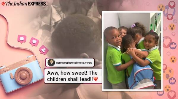 three year old boy welcomed with hugs by classmates after survivor hurricane Dorian in the Bahamas, Hurricane Dorian, Bahamas, Florida, Trending, Indian Express