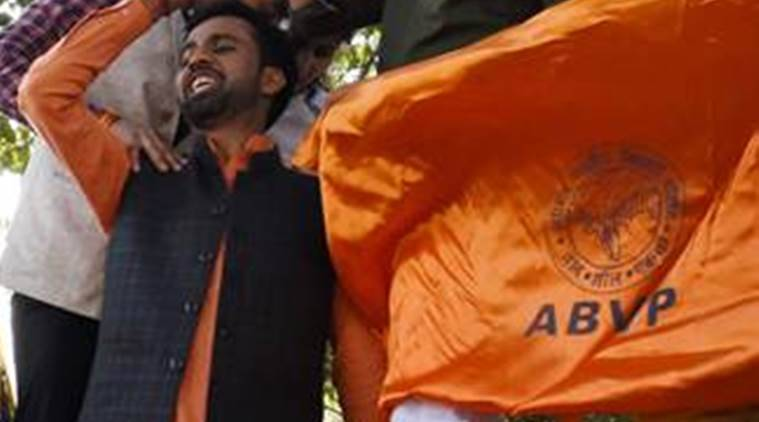 panjab university, panjab university abvp fight, abvp supporters booked at PU, chandigarh city news