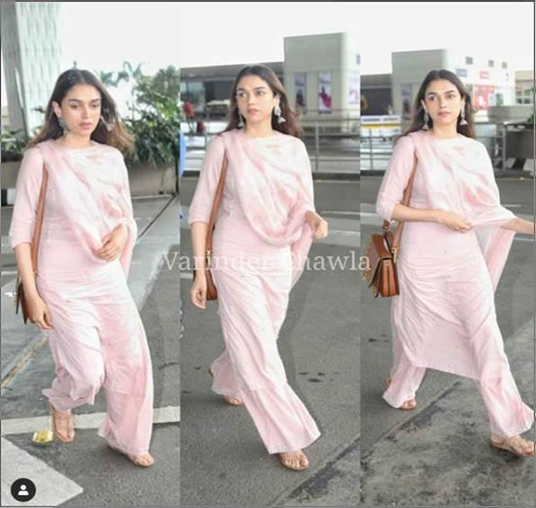 aditi rao hydari, airport look, indian express, indian express news