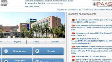 aiimsexams.org, AIIMS Nursing Officer results, AIIMS Nursing Officer result 2019, AIIMS Nursing Officer result 2019, AIIMS result