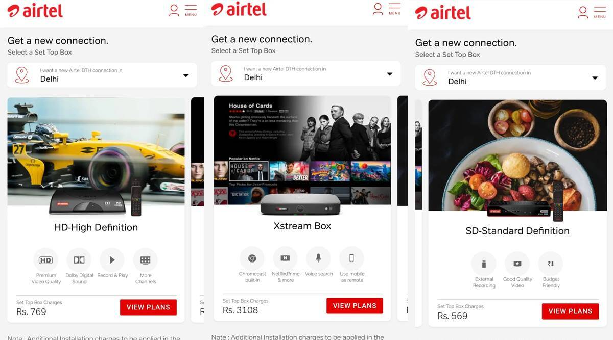 Airtel Digital TV vs Xstream Box Recharge Plans, Packs, Channels ...