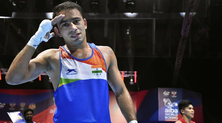 Amit panghal becomes first indian to enter final manish kaushik ends with bronze