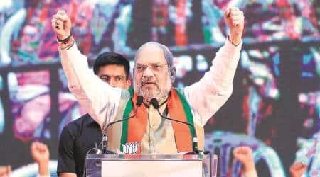 Amit Shah, Amit Shah article 370, amit shah kashmir special status, amit shah Maharashtra elections, BJP, Kashmir article 370, jammu kashmir news, indian express