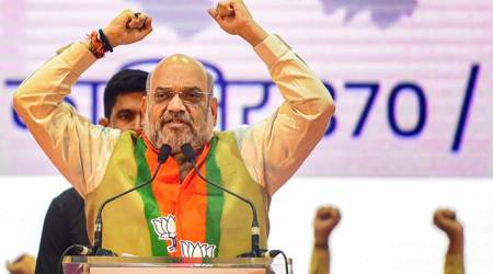 Amit shah lauds pm modi on obc panel, amit shah home minister, amit shah dussehra rally maharashtra, narendra modi, article 370, indian express, maharashtra city, india news