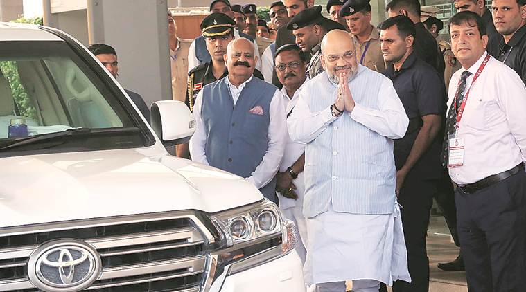 amit shah, amit shah chandigarh, chandigarh news, amit shah on law and order, indian express