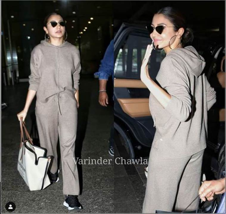 anushka sharma, airport look, indian express, indian express news