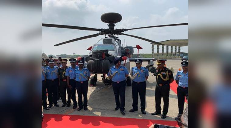 apache, apache helicopter india, apache helicopter, iaf apache chopper, iaf inducts apache helicopters, Apache AH-64E chopper, iaf Apache AH-64E chopper, indian air force choppers, india news