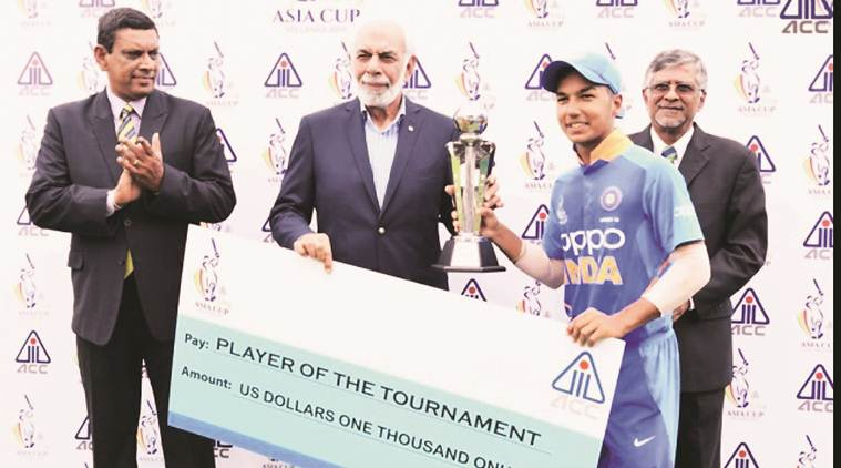 u-19 champions trophy, arjun azad, player of the tournament, chandigarh player, chandigarh news, sports news, indian express