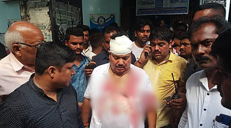 Arjun Singh MP, Bengal lathicharge, arjun singh attacked, bjp police clash barrackpore, mamata banerjee, tmc vs bjp, indian express