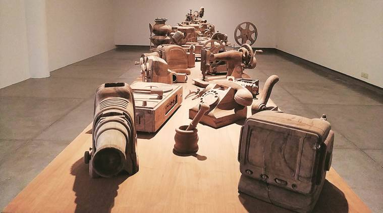 art and culture, sudarshan shetty artist, Gallery ske, pieces earth left behind, delhi news, indian express