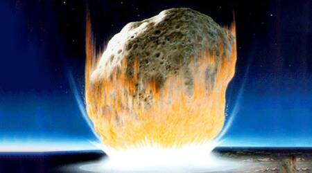 asteroid that killed dinosaurs, dinosaur killing asteroid, asteroid equivalent to 10 billion atom bombs, asteroid that triggered massive tsunamis, asteroid earth atmosphere