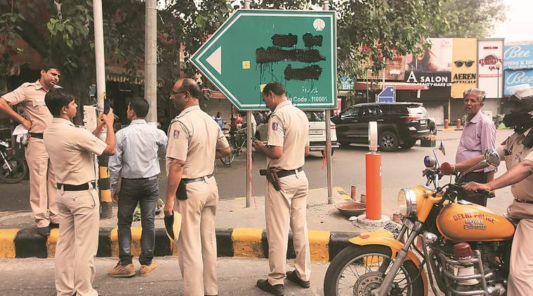Delhi: Outfit defaces Babar Road board, says he was 'outsider'