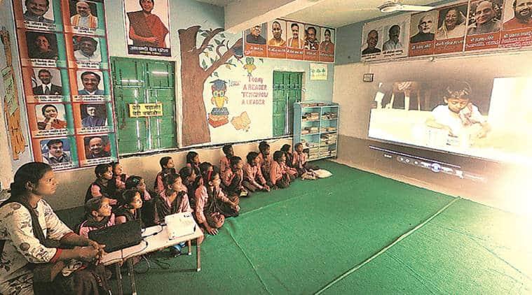 Bahraich, Bahraich schools, UP government, UP government schools, Yogi adityanath, digital schools, indian express