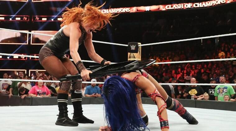 Becky lynch fined 10000 for swinging steel chair at referee