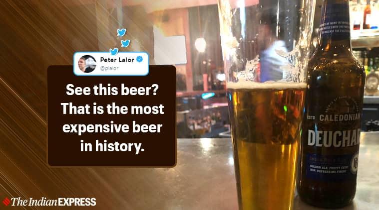 Un pub britannique charge le journaliste australien Peter Lalor pour une bière, Peter Lalor, The Australian, Deuchers IPA, bière la plus chère